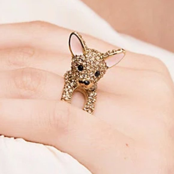 Kate Spade Chihuahua Ring Size 6 New